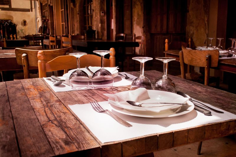 Photo of Dinner Table in Restaurant