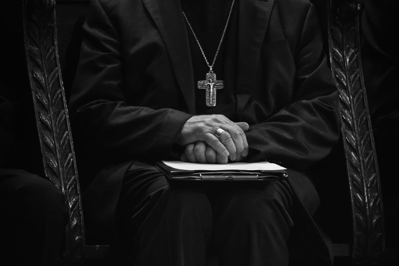 Photo of Priest Hands Folded