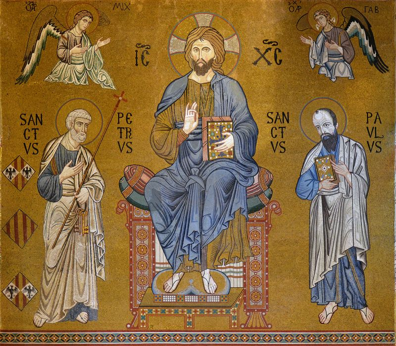 Photo of Mosaic of Christ, Saints, and Angels