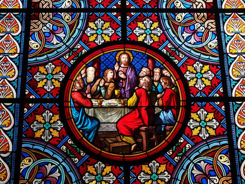 Photo of The Last Supper Stained Glass