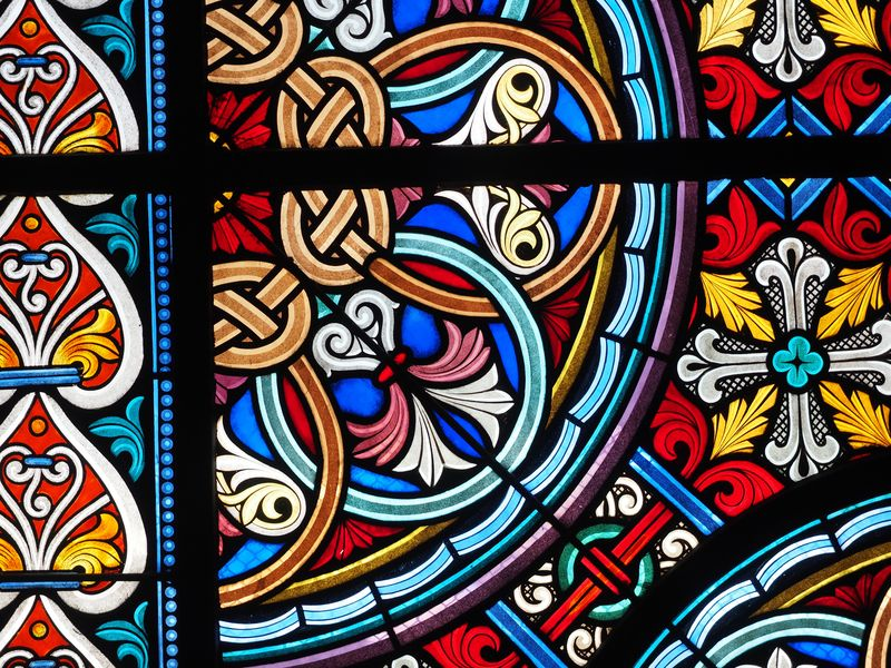 Photo of Stained Glass Window Closeup