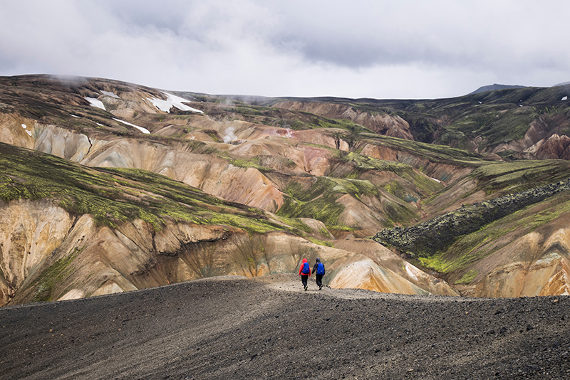 Photo of Hikers in Iceland