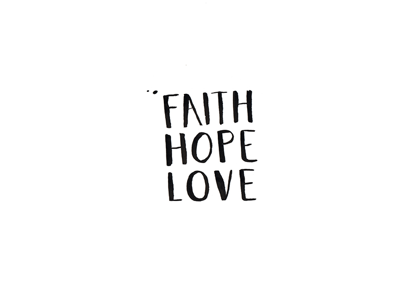 Faith Hope & Love Artwork