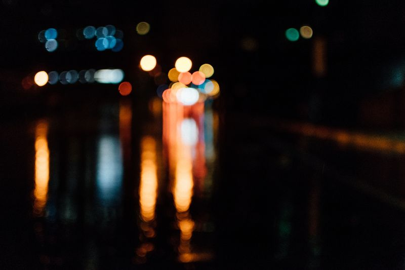 Photo of Blurry Lights at Night