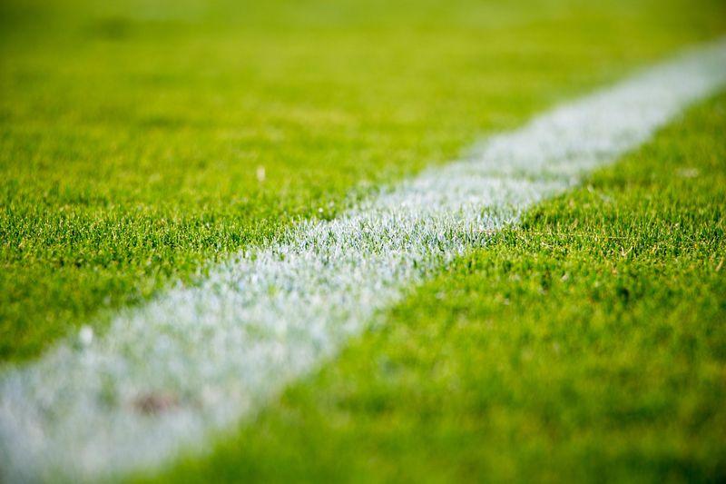 Photo of Chalk Line on Soccer Pitch
