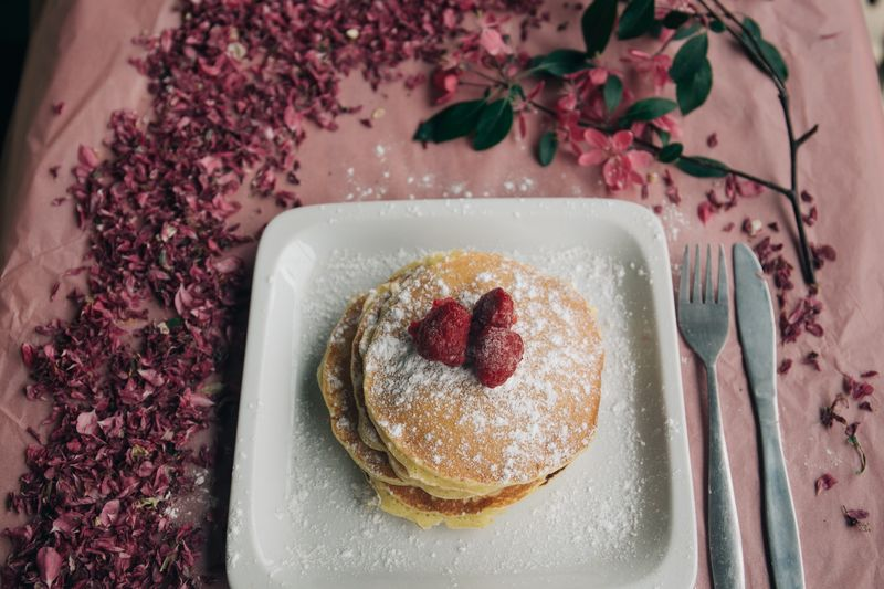 Photo of Pancakes with Raspberries