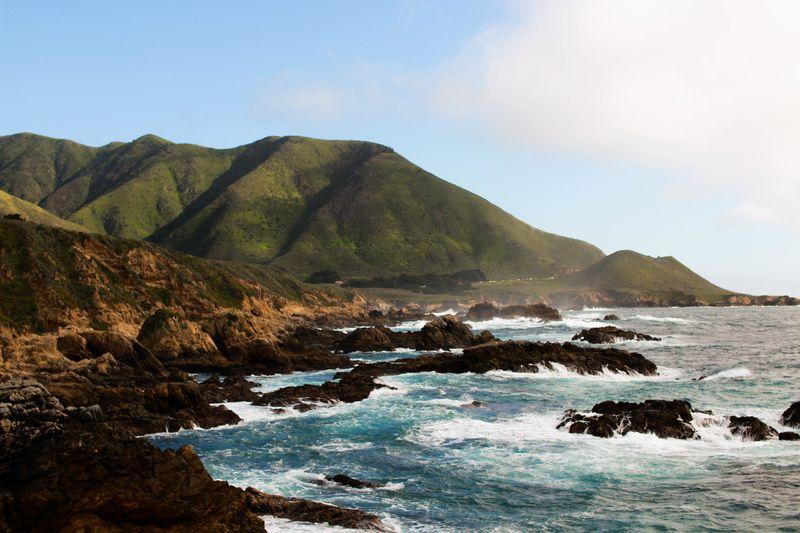 Photo of Hills on Ocean Shore