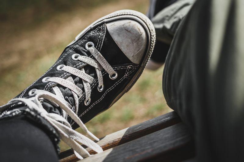 Photo of Black Converse Shoe