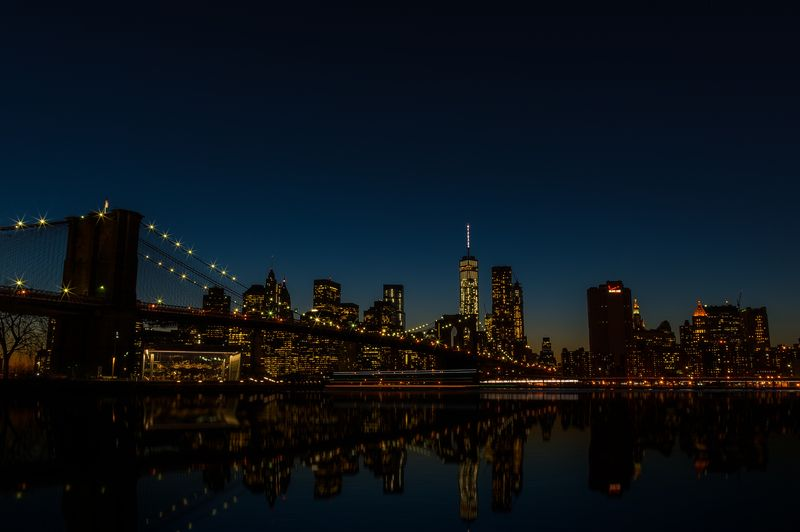 Photo of Brooklyn Bridge at Night