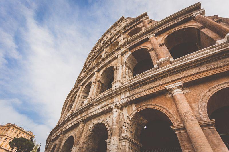 Photo of the Roman Colosseum