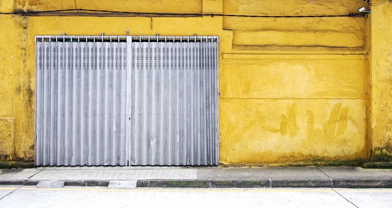 Photo of Metal Curtain and Wall