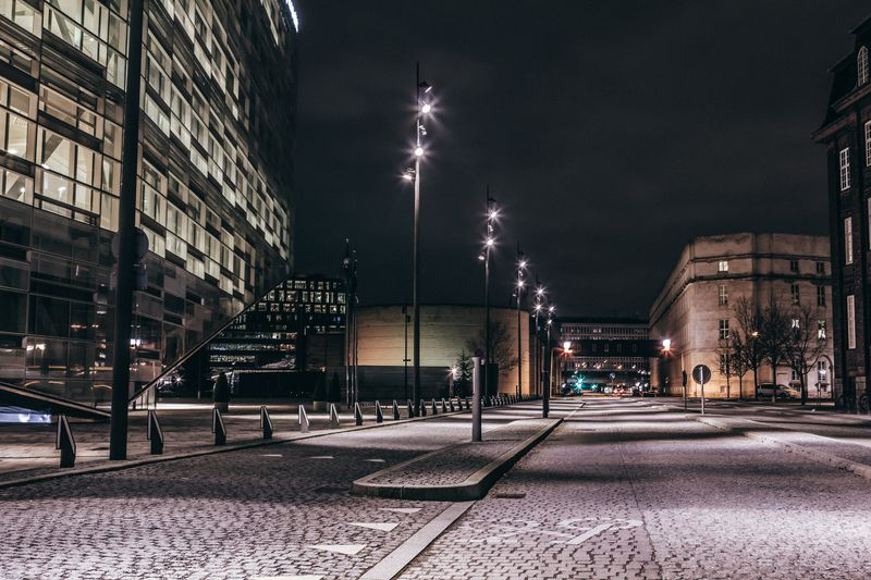 Photo of Downtown Copenhagen at Night