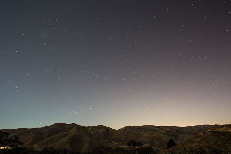 Photo of Starry Sky above Mountains