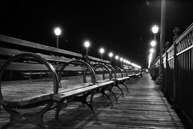 Photo of Benches on Wooden Pier