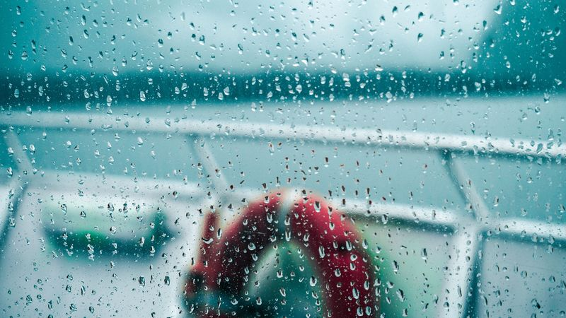 Photo of Ship Through Rainy Window